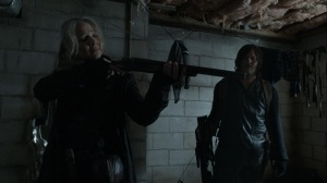 Promises Broken- Leah can't bring herself to kill the dying wife- AMC, The Walking Dead