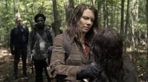 Promises Broken- Maggie puts down a walker- AMC, The Walking Dead