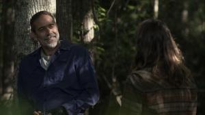 Promises Broken- Negan tells Maggie that he kept his Whisperer mask- AMC, The Walking Dead