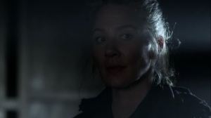 Rendition- Leah tells the Reapers to stop waterboarding Daryl- AMC, The Walking Dead