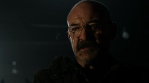 Rendition- Pope, played by Ritchie Coster, tells the Reapers that God is angry- AMC, The Walking Dead