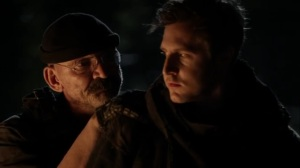 Rendition- Pope questions one of the Reapers about the wounds on their back- AMC, The Walking Dead